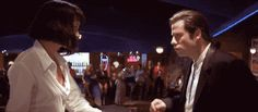 Pulp Fiction.  Great soundtrack, love this song!  You never can tell