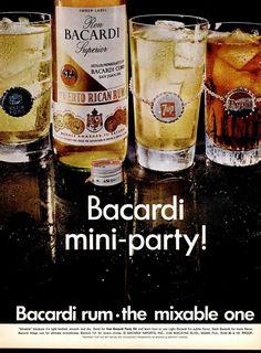 Bacardi ad, LIFE June 21, 1968 Vintage Advertisements, Vintage Ads, Bacardi Rum, Vintage Scrapbook, Party Kit, Magazine Ads, Vintage Stuff, Vodka Bottle, Advertising