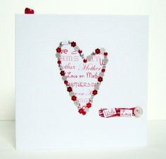 Mother's Day Card, with Gift Tag, Handmade Greeting Card & Tag £2.95