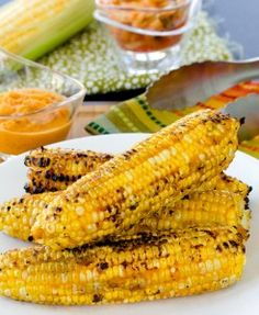 Kimchi Grilled Corn on the Cob - #SweetLife