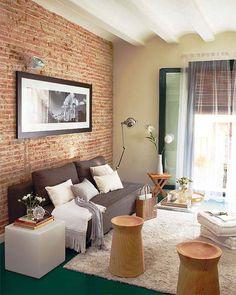 Кирпичная стена в интерьере — эффектная кладка как элемент декора