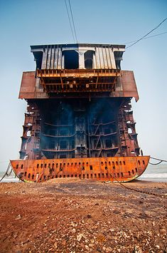 Pakistan's Gadani ship-breaking yard is one of the world's largest ship breaking operations. The yard is located on . Scale Model Ships, Scale Models, Abandoned Ships, Abandoned Places, Ship Breaking, Oil Tanker, Shipwreck, Worlds Largest, Pakistan