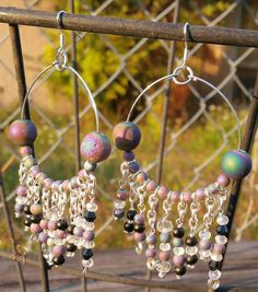 Check out this item in my Etsy shop https://www.etsy.com/listing/478864646/hoop-earrings-druzy-agate-beads