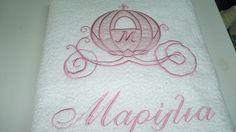 Cinderella's personalised towels