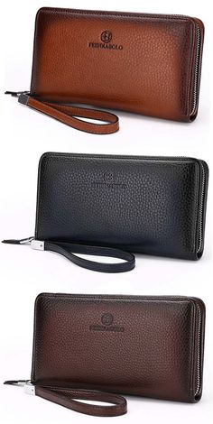 b1b7e397ea69 US 19.39 PU Leather Clutch Bag Leisure Vintage Multi-card Slots Wallet Coin  Bag For Men