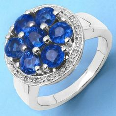 2.73CTW Genuine Kyanite .925 Sterling Silver Ring - http://www.johareez.com/shop/justbuyit/rings/2-73ctw-genuine-kyanite-925-sterling-silver-ring-11433/$10630317