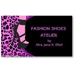 Fashion Shoes Business Card by elenaind