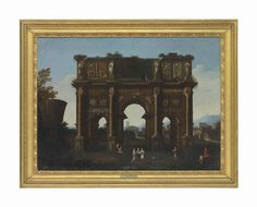 Circle of Thomas Blanchet (?Paris 1614-1689 Lyon) An architectural capriccio with the Arch of Constantine oil on canvas 27 ½ x 37 5/8 in. (69.8 x 95.5 cm.)