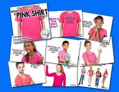 ANTI-BULLYING RESOURCE.  3 powerpoints at a variety of elementary levels.  These describe what bullying is and what pink shirt day is for.