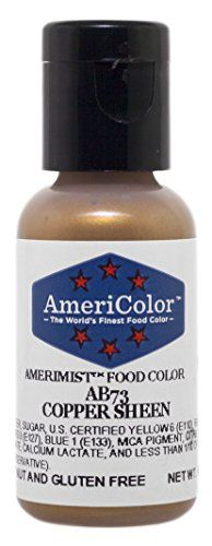 AmeriColor AmeriMist Edible Paint  Airbrush Colour  Copper Sheen  65 oz >>> To view further for this item, visit the image link.