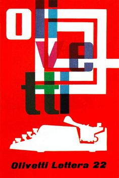 FHK Henrion Illustration 7 | Showroom poster for Olivetti portable typewriters. Great Britain. From Graphis Annual 61/62. Blogged at Aqua-Velvet. #typography #illustration #graphic design
