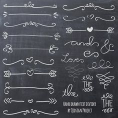 Imagen de doodle, text dividers, and etsy