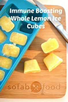 You must make these Detoxifying Immune Boosting Lemon Ice Cubes that pack a big nutritional punch. They are so simple to toss into smoothies, a glass of water, or even into soups. Lemons have powerful nutrients which give a boost to the immune system!