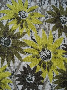 Vintage 1950s barkcloth fabric
