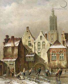 Oene Romkes de Jongh - Winter in Haarlem (2)