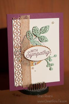 Flourishing Phrases Stamp set and thinlits for an elegant sympathy card. Staci Rivera Stampin Up! StampinUp SU