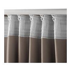 MARJUN Block-out curtains, 1 pair, brown - brown - IKEA