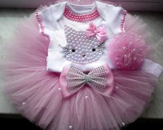 Hey, I found this really awesome Etsy listing at https://www.etsy.com/listing/387182428/hello-kitty-birthday-tutu-set-girls