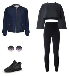 """""""Senza titolo #26"""" by annadallolio ❤ liked on Polyvore featuring adidas Originals, adidas, Glamorous and Spitfire"""