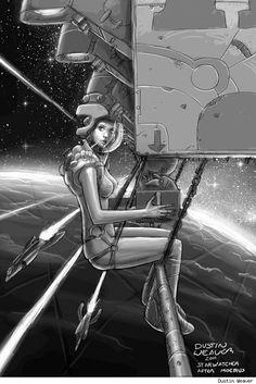 Starwatcher by Dustin Weaver (after Moebius) *