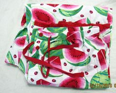 Nick and Nora Watermelon & Ladybugs Pajama Bottoms Large Lace Trim Hem Cotton #NickNora #LoungePantsSleepShorts