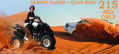 Desert Safari Tour with Quad bike Safari combo offer at Dubai only @ 215 AED. Book #desertsafarideals with http://www.arabiandesertdubai.com/evening-desert-safari-deals-dubai/