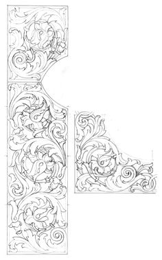Engraved Drawing Book - Engraved Drawing Book , Page Landon In Fisher S Drawing Room Scrap Book 1837 Pdf 48 Leather Tooling Patterns, Leather Pattern, Wood Carving Patterns, Carving Designs, Ornament Drawing, Arabesque, Baroque Design, Tanjore Painting, Metal Engraving