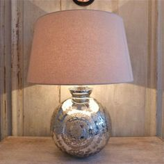 LARGE SILVERED LAMPS