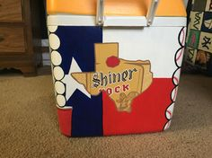 Shiner bock Texas painted cooler