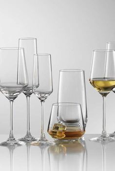 Entertain in elegant, sleek style with the Schott Zweisel Pure Crystal Glass Collection; break-resistant and dishwasher safe for convenient clean up.