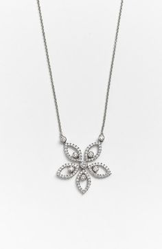 Jack Kelége Jack Kelege Diamond Flower Pendant Necklace available at #Nordstrom