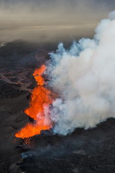 The Great Maelifell By Hans Strand The Maelifell Volcano Towers - Incredible neon blue lava flames erupt volcano