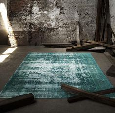 Silkeborg rug low pile blue traditional green and red - Alfombras patchwork vintage ...