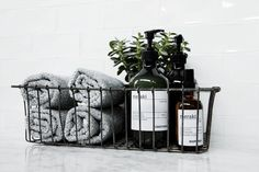 Decor Decor apartment Decor diy Decor elegant Decor ideas Decor ideas colors Decor ideas small Decor master Decor modern Decor pink Bathroom Decor Bathroom Decor Bathroom Decor meraki * fits well into any simple wire basket. Bad Inspiration, Bathroom Inspiration, Bathroom Accessories, Home Accessories, Tapetes Vintage, Deco Studio, Over Toilet, Wire Baskets, Wire Basket Decor