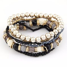 Bohemian Bead Jewelry Bracelets. FREE!!!! ★★★ For a Limited Time ONLY★★★ ★★★Just Pay Shipping ★★★ Item Type: BraceletsFine or Fashion: FashionLength: 17cmClasp Type: Hidden-safety-claspShape\pattern: BallStyle: BohemiaChain Type: Rope ChainBracelets Type: Strand Bracelets