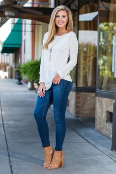 """""""Believe In Chill Top, Ivory"""" Oh, you will totally believe in chill! Especially after wearing this top! The super soft fabric and casual cut make this top extremely comfy to wear! Bonus, it's also totally adorable with it's crochet and button details #newarrivals #shopthemint"""