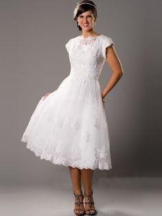 10 Fun and Flirty Tea Length Wedding Dresses