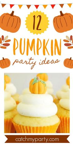 If you're thinking of planning a pumpkin-themed party you'll want to go through our roundup of gorgeous pumpkin party ideas for lots of inspirations and wonderful ideas! See more party ideas and share yours at CatchMyParty.com #catchmyparty #partyideas #pumpkin #pumpkinparty #pumpkin1stbirthdayparty #fall #fallparty Pumpkin Cake Pops, Pumpkin Dessert, Pumpkin 1st Birthdays, 1st Birthday Party For Girls, Thanksgiving Parties, Baby In Pumpkin, Party Cakes, Shower Cakes