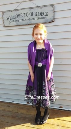 Thank you JoJean for submitting in our photo contest. Your daughter looks so pretty! She attending a Father/Daughter Ball. https://www.elitedresses.com/Girls_Purple_Dress_with_Black_Tulle_Overlay_and_Ma_p/dci1362p.htm  #CustomerPhotos #BeautifulPicture #BeautifulDresses