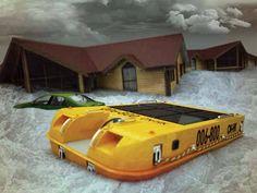 Bunker flutuante contra desastres naturais projetado por Alexander Nazarenko e Stas Gotsulyak