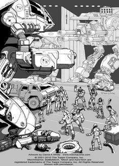 """My first ever official Battletech illustration. Made back in 2009. It was used in """"BattleTech Era Report 3052"""" sorry I am not very good at drawing people"""