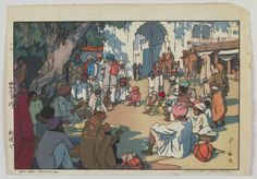 Hiroshi Yoshida. Also charmed by snakes, but charmingly so. From his trip across India in 1931-32.