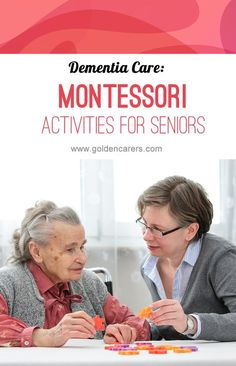 Montessori-Based Activities The Montessori for dementia method seeks to engage the senses and evoke positive emotions. It involves stimulation of the cognitive, social, and functional skills of each individual. Cognitive Activities, Alzheimers Activities, Montessori Activities, Therapy Activities, Physical Activities, Cognitive Therapy, Work Activities, Outdoor Activities, Vascular Dementia