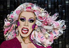 Ru Paul Portrait made up of 3d Objects