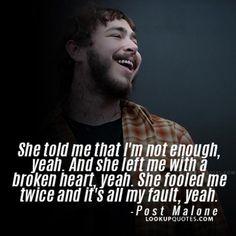 #postmalone #postmalonequotes #heartbreak #music