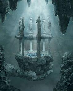 D&D: The Shrouded Kingdom Pt.3 - Imgur Fantasy Kunst, Fantasy City, Fantasy Places, Fantasy World, Dark Fantasy, Fantasy Artwork, Fantasy Art Landscapes, Fantasy Concept Art, Anime Artwork