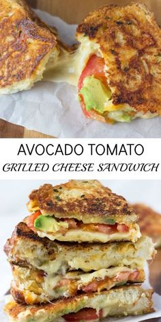Avocado Tomato Grilled Cheese Sandwich - the ultimate grilled cheese sandwich! ~ blahnikbaker.com