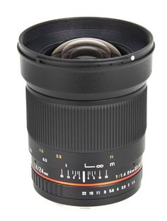 Bower Ultra-Fast Wide-Angle 24mm Focus 1.4 Lens for Sony Alpha (SLY2414S)