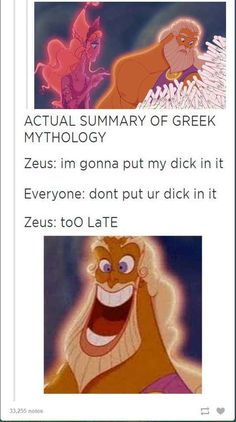 When they used Hercules to demonstrate how Greek mythology actually worked.