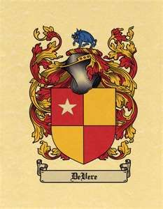 De Vere coat of arms / family crest from www.4crests.com